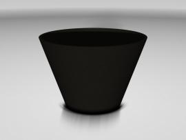 Ronde UHPC plantenbak 'Curva', afmetingen Ø126,5 x H84 cm