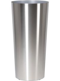 RVS plantenbak, conische vorm 'Panache' op ring Ø48 x H99cm