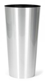 Aluminium plantenbak geborsteld  'Conan'  Ø40XH78 cm