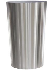 RVS plantenbak, conische vorm 'Panache' op ring Ø60 x H95cm