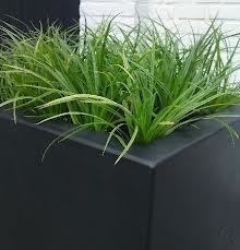 Polyester plantenbak `Kubus` 120x120x40cm