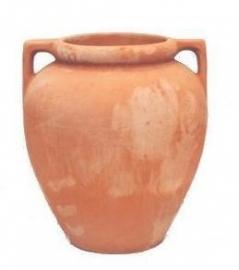 Handgemaakte Terracotta vaas/kruik `Vaso Livorno` Ø56xH55 cm