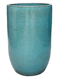 Keramiek plantenbak  'Orsina' turquoise geglazuurd Ø52xH79 cm