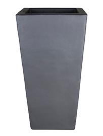 Keramiek plantenbak 'Rollin' zandstructuur  L33 x B33 x H60 cm