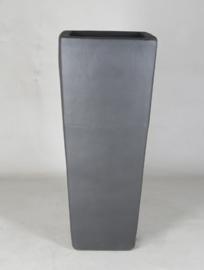 Keramiek plantenbak 'Rollin' zandstructuur  L36 x B36 x H90 cm
