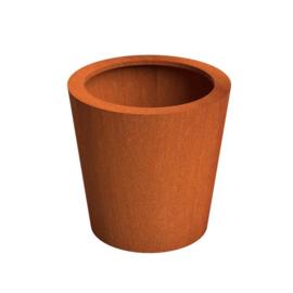 CorTenstaal plantenbak `Palla` Ø80 x H80 cm