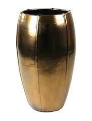 Keramiek schaal 'Umi'  glanzend goud Ø53 x H92 cm