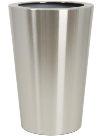RVS plantenbak, conische vorm 'Panache Plus' op ring Ø39 x H59cm