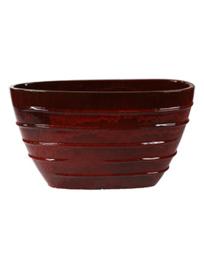 Keramiek plantenbak  'Umi'   glazuurlaag rood  L90 x B35 x H50 cm