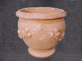 Handgemaakte Terracotta pot `Vaso Sienna` Ø50xH43