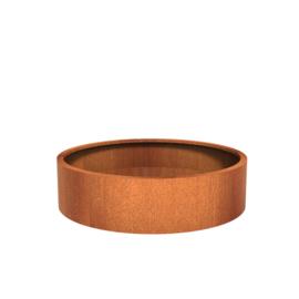 CorTenstaal plantenbak `Arrondi` Ø150 x H40 cm