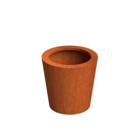 CorTenstaal plantenbak `Palla` Ø60 x H60 cm
