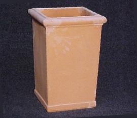 Handgemaakte Terracotta bak `Pilone Lucca` Ø38xH60xB38