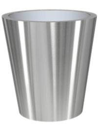 RVS plantenbak, conische vorm 'Panache Plus' op ring Ø70 x H75cm