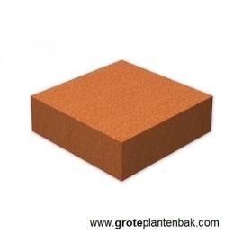 Cortenstaal sokkel, afmetingen L100 x B100 x H30 cm