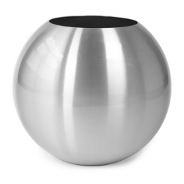 Aluminium plantenbak geborsteld  'Sparke'  Ø49 x H43 cm