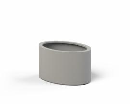 Polyester plantenbak 'Ovali L' 115x80x60cm in zuiverwit -Ral 9010