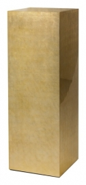 Luxe Sokkel van bladzilver met Champagne finish, afmetingen L40 x B40 x H120 cm