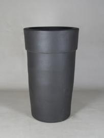 Keramiek plantenbak 'Quorra' zandstructuur  Ø53 x H90 cm