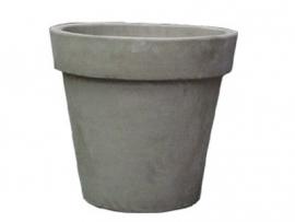 Handgemaakte Terracotta pot `Vaso Gris` Ø50xH46