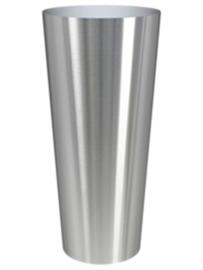 RVS plantenbak, conische vorm 'Panache' op ring Ø68 x H150cm