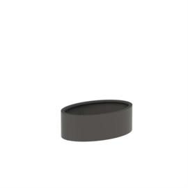 Aluminium plantenbak 'Oval' 1200x800x400mm