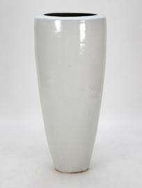 Keramiek plantenbak  'Vitalia' wit D55 x H95 cm