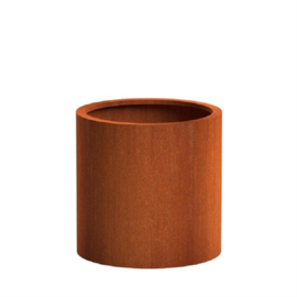 CorTenstaal plantenbak `Arrondi` Ø100 x H100cm