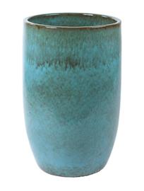 Keramiek plantenbak  'Lorenza' turquoise geglazuurd Ø65xH98 cm