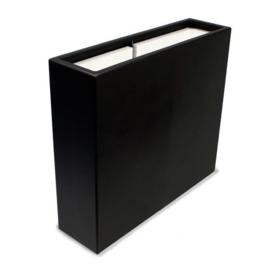 Polyester plantenbak `Oblong` 90x25x80cm