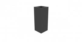 Aluminium plantenbak `Rockefeller` 400x400x1000mm