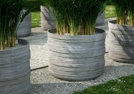 Ronde UHPC plantenbak 'Olea', afmetingen Ø80 x H70 cm