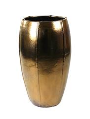 Keramiek schaal 'Umi'  glanzend goud Ø43 x H74 cm