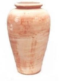 Handgemaakte Terracotta vaas/kruik `Vaso Alto Prato` Ø48xH85