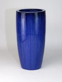 Keramiek plantenbak  'Vico' blauw geglazuurd D46xH90 cm
