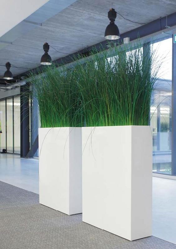 Rechthoekige plantenbak `North Dakota`. Afmeting: H92 x L74 x D23 cm. Kleur: Shiny White
