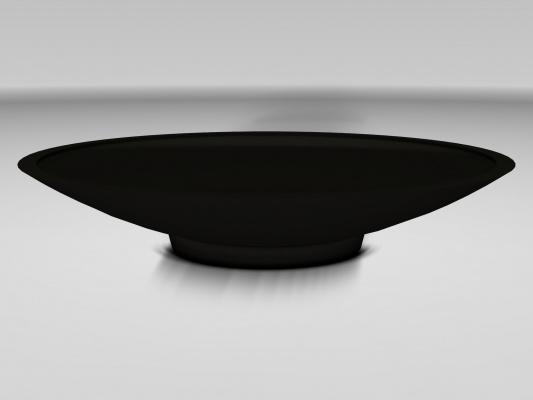 UHPC schaal 'Curva', afmetingen Ø200 x H38 cm (zonder zitring)
