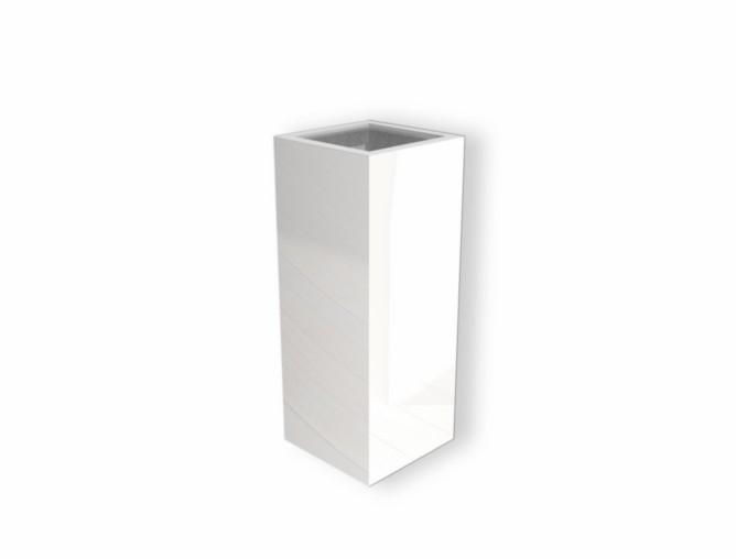 Hoogglans polyester plantenbak `Alto` 400x400x800mm