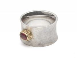 Ring zilver met toermalijn