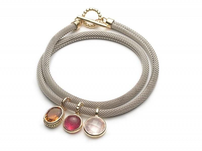 Armband met hangers roze