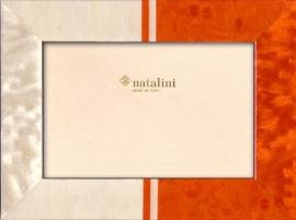Natalini fotolijst - 10 x 15 cm - wit oranje Dodi