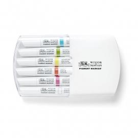 pigment marker Winsor & Newton - vibrant tone 6 stuks