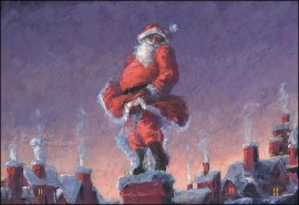 Peter Wever (kerstkaart) 12 x 17,5 cm Santa likes it hot