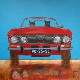 EDART  alfa GTV bertone - Kunstkarte