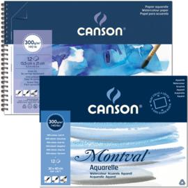 Canson - aquarelpapier Montval met spiraal, vanaf