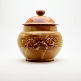 Rumtopf Bruin / Grespot met Deksel - Nieuwstaat