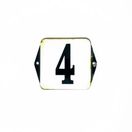 Emaille Huisnummer  4