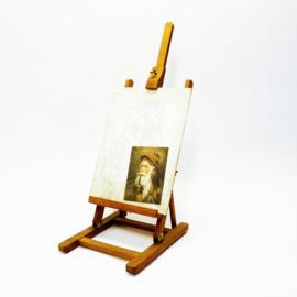 Schildersezel klein met 2 schilderijtjes om zelf te schilderen