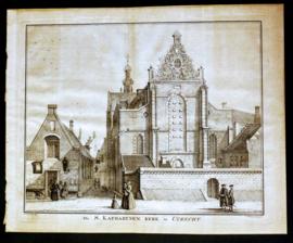C. Philips Jacobs - De S. KATHARYNEN KERK te UTRECHT -  Kopergravure - ca 1750