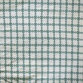 Tafelkleed -  Katoen - Wit / Groen